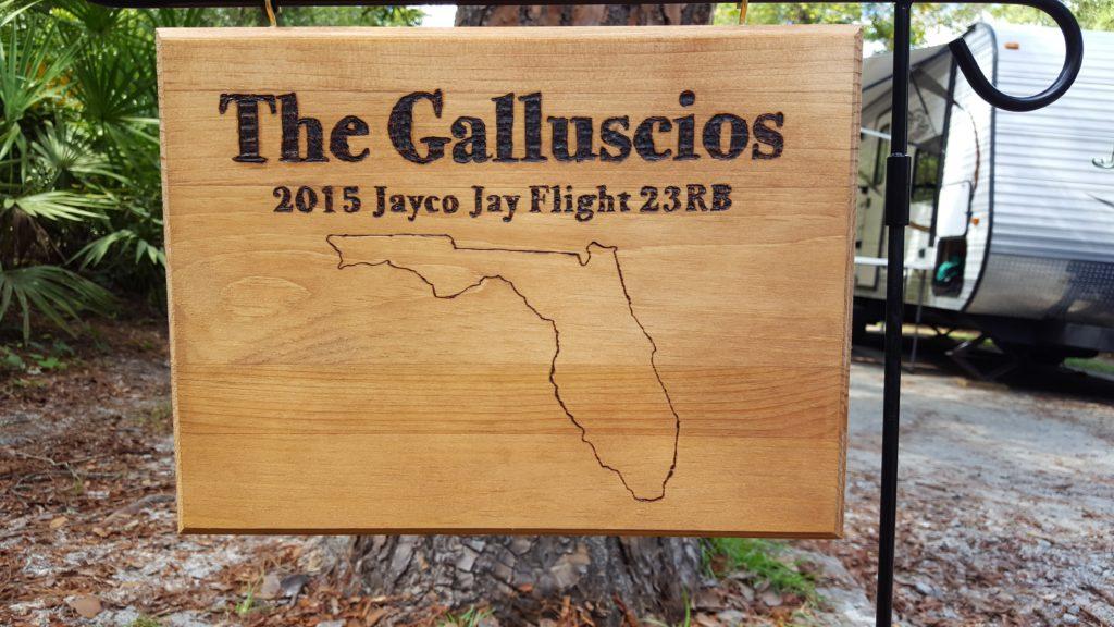 Galluscio Campsite Marker Crooked River State Park